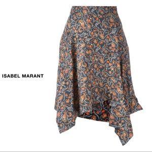 Isabel Marant Asymmetric Floral Skirt